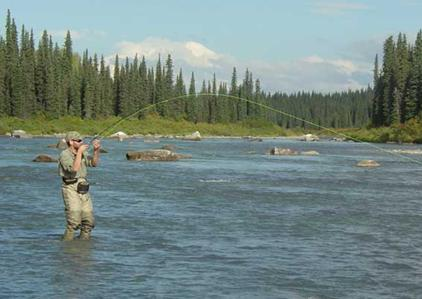 Alaska fly in fishing