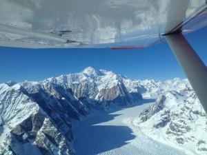 glacier under wing